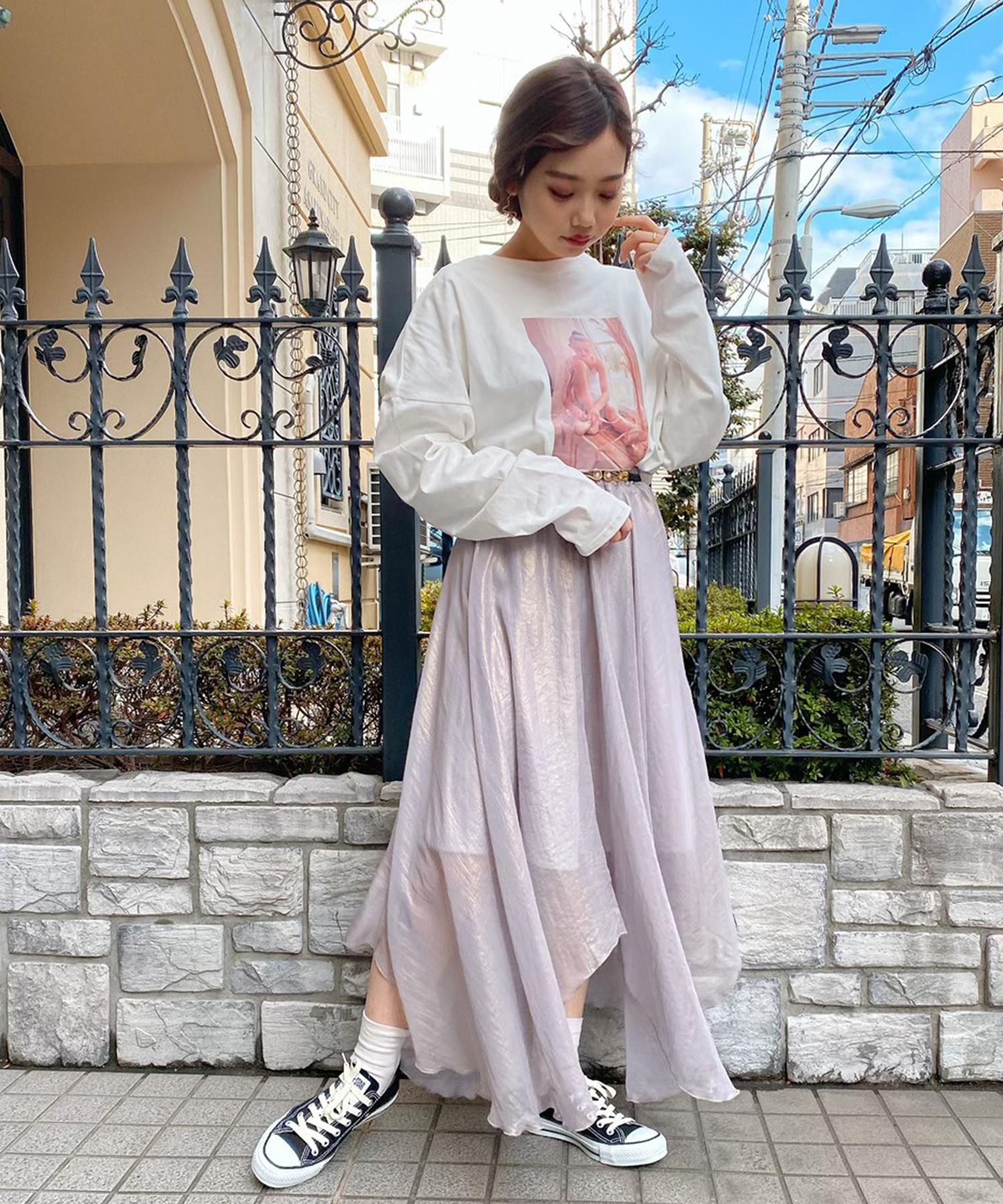 Tシャツ yukino × mimi ballet フォト プリント