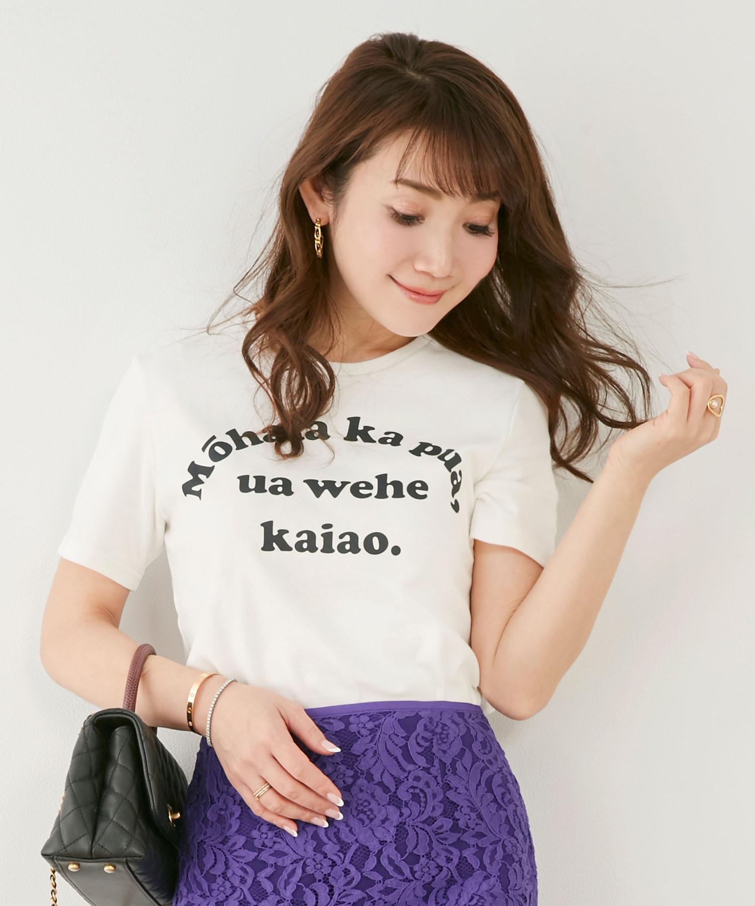 使いやすいと高評価!Liala×PGで大hit中のTシャツ ロゴ プリント。