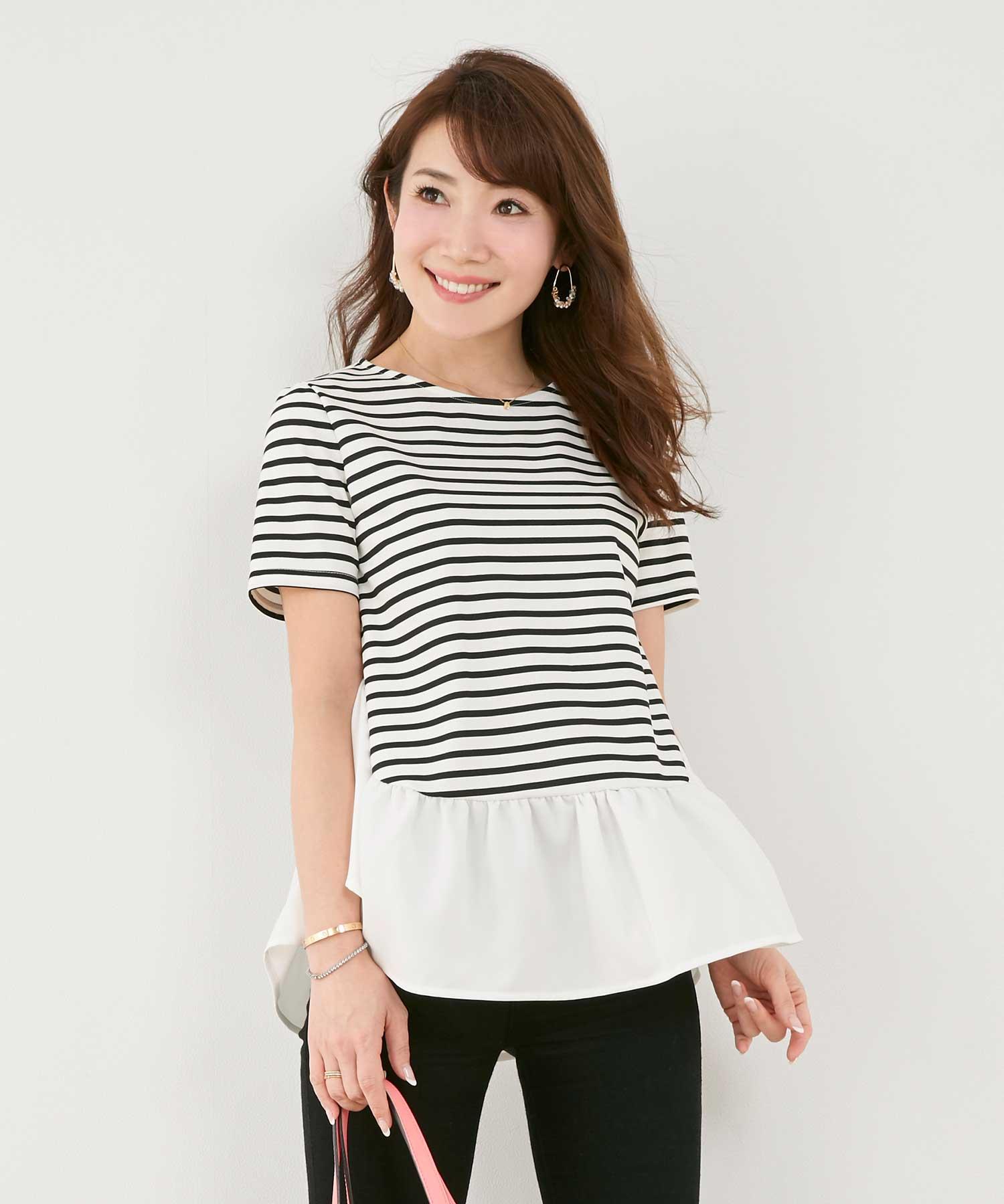 Tシャツ 異素材 フレアデザイン Liala×PG