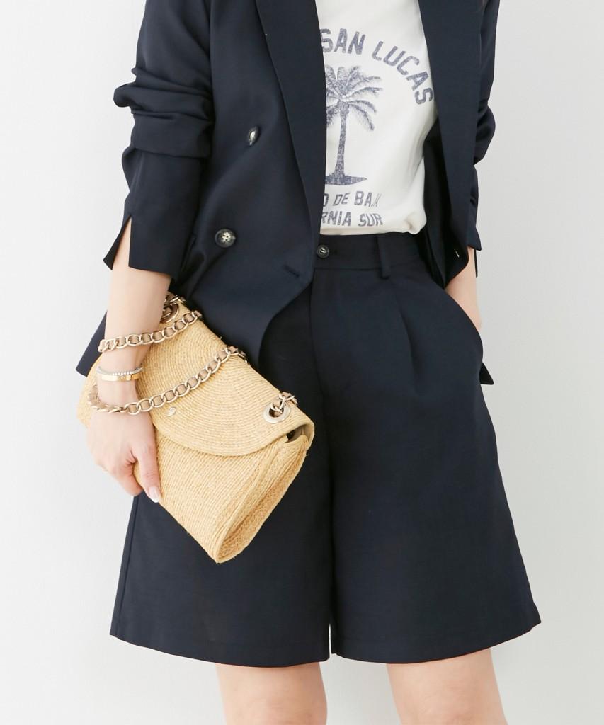 今季トレンドのハーフ丈パンツはカジュアルにも綺麗めにも対応〇