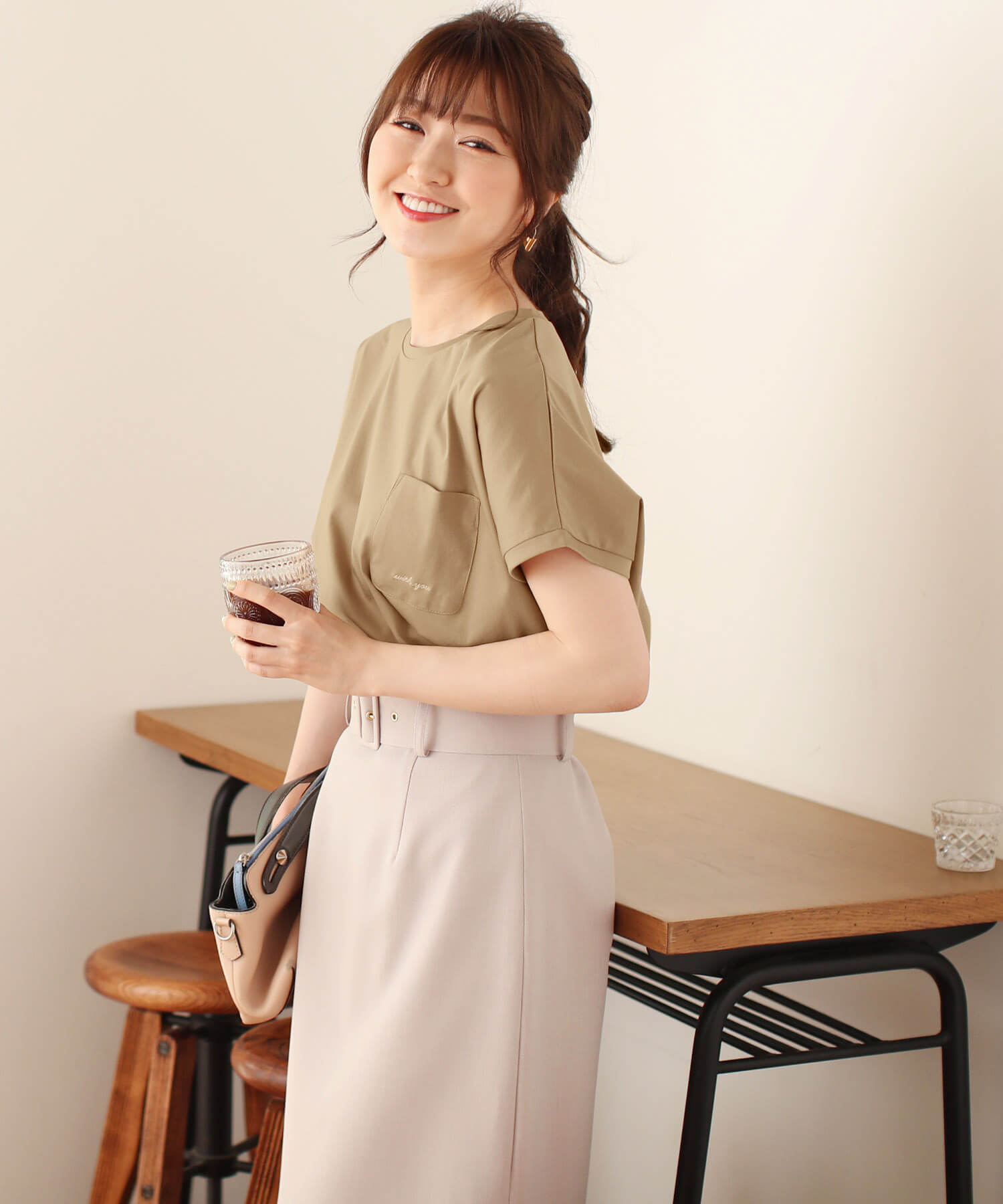Tシャツ withyou ロゴ刺繍