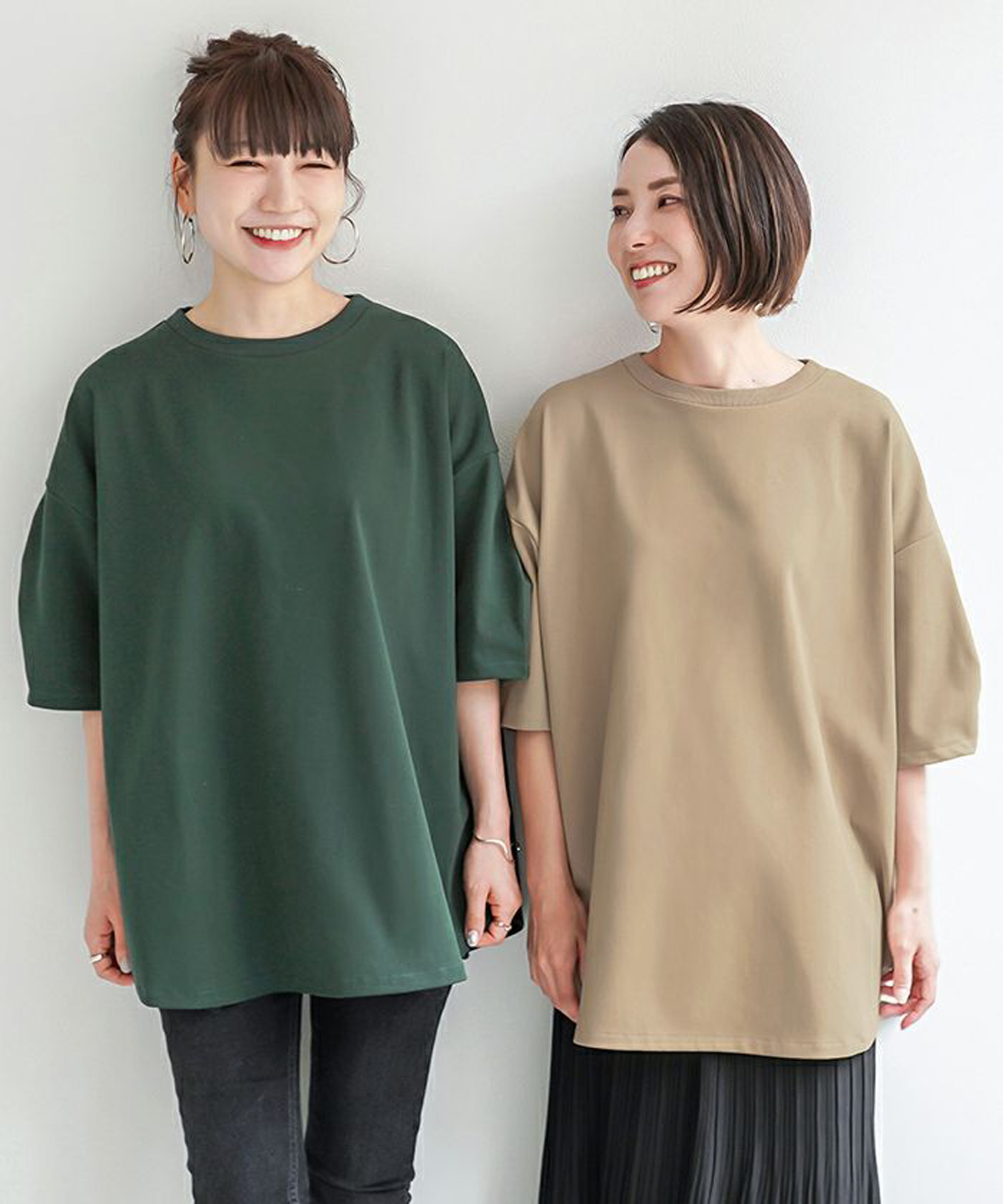 Tシャツ カットソー softcool JS×momo.yokko