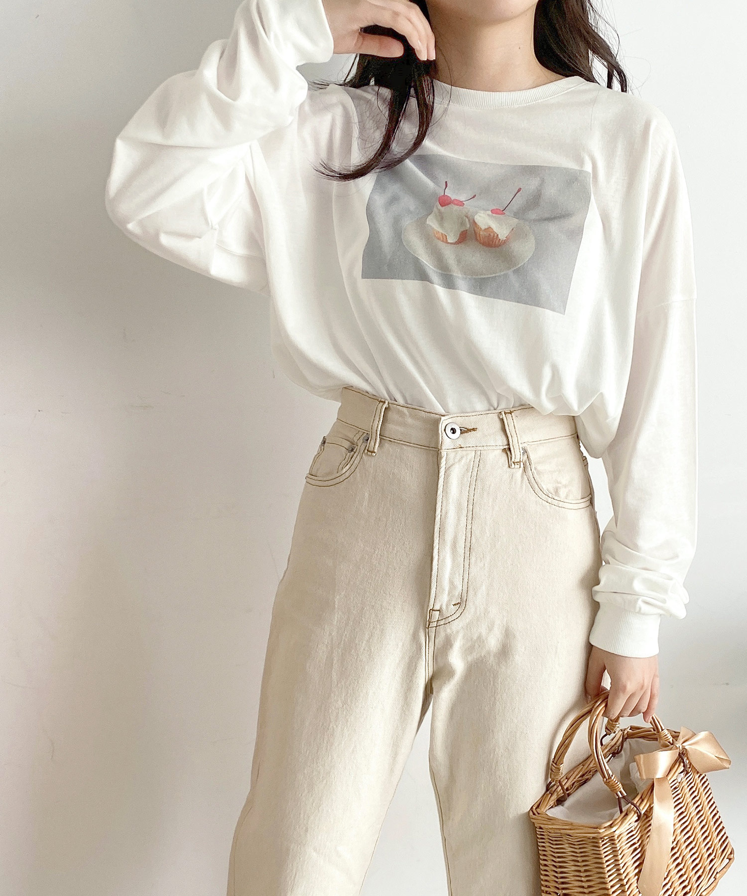 Tシャツ ロング スイーツ レシピ emuemu×mimi toujours
