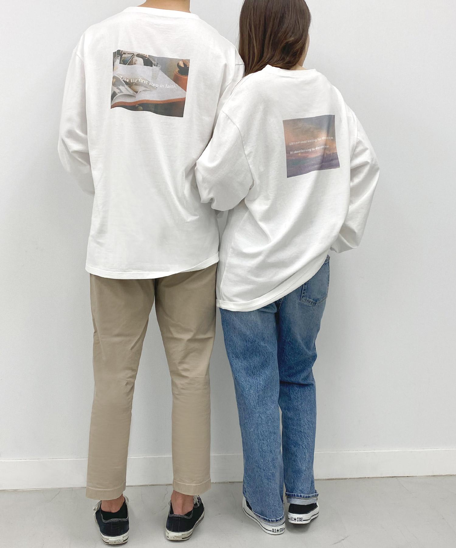 Tシャツ ロゴ&フォトプリント Airi Kato Tina×mimi toujours