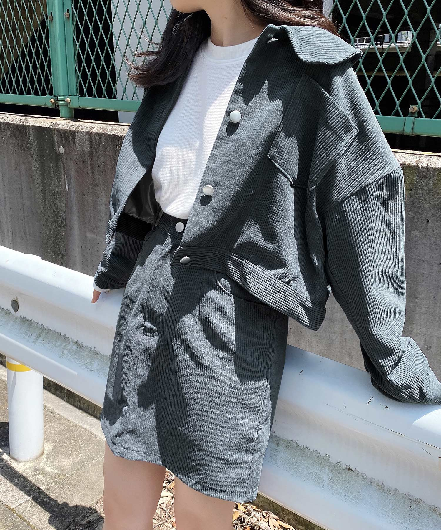 ジャケット コーデュロイ emuemu×mimi toujours