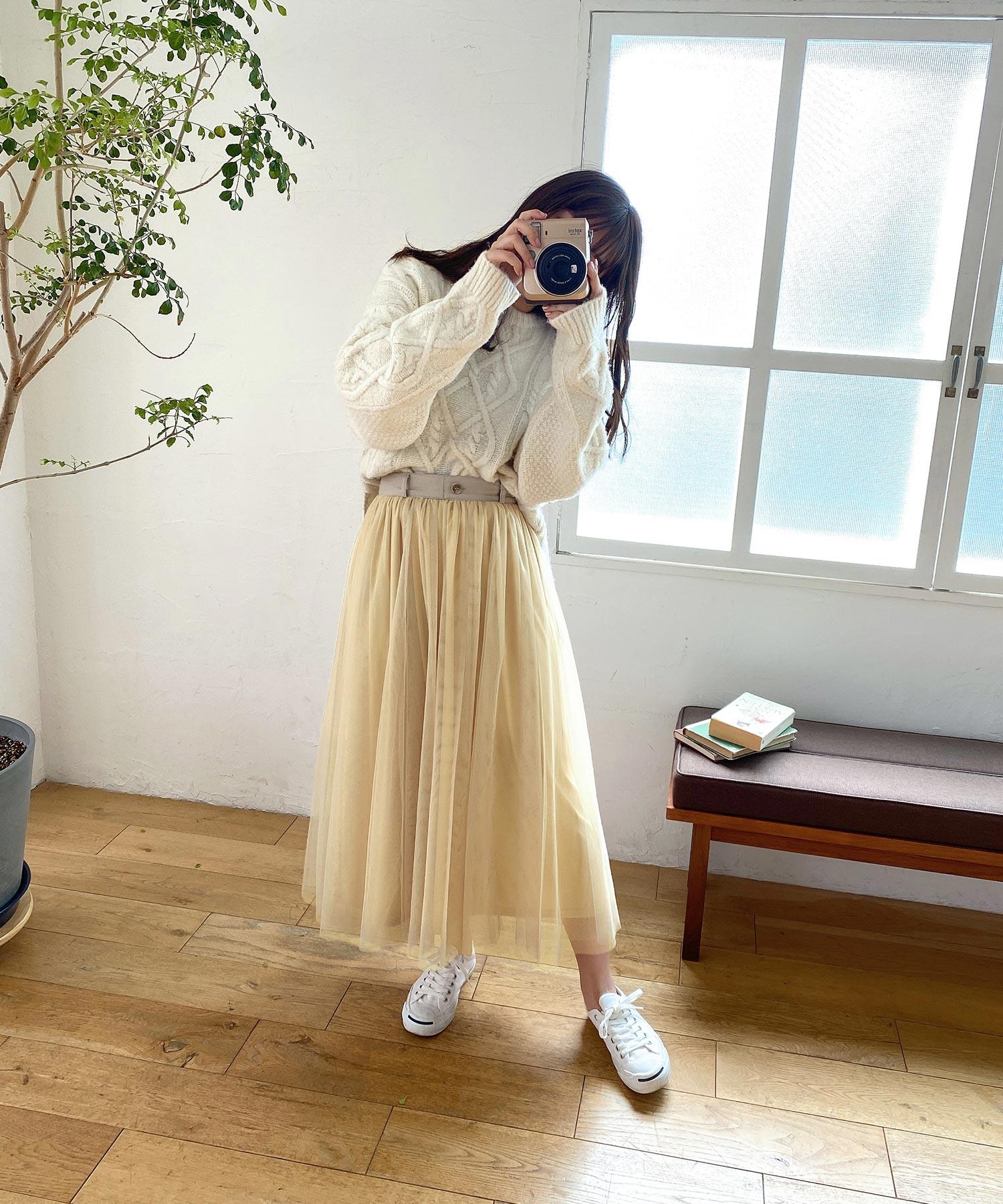 スカート チュール emuemu×mimi toujours