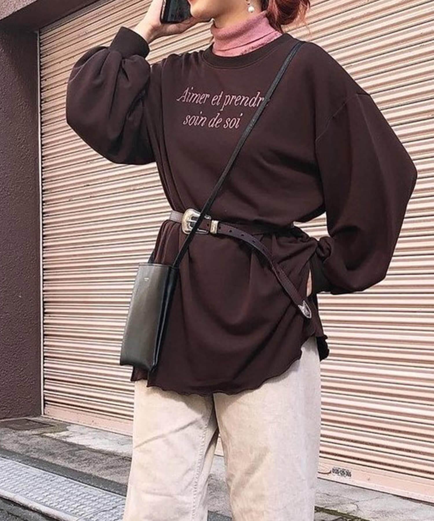 チュニック  プルオーバー バックレースアップ ボリューム袖 mimi toujours 全3色 SS  mtj512-0186