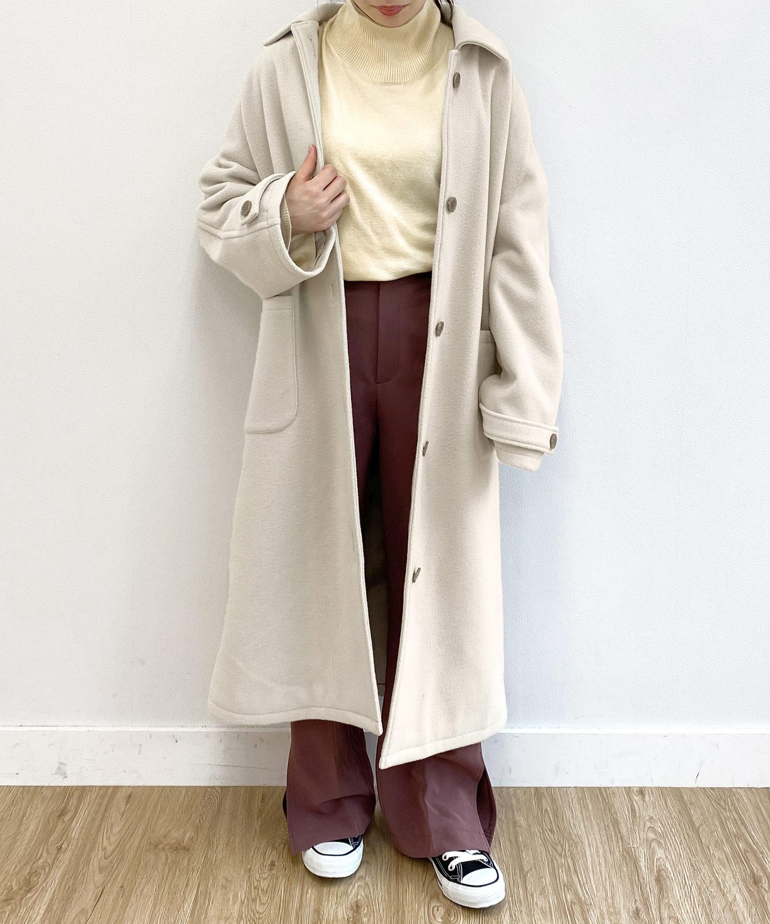 コート フラットカラー emuemu×mimi toujours