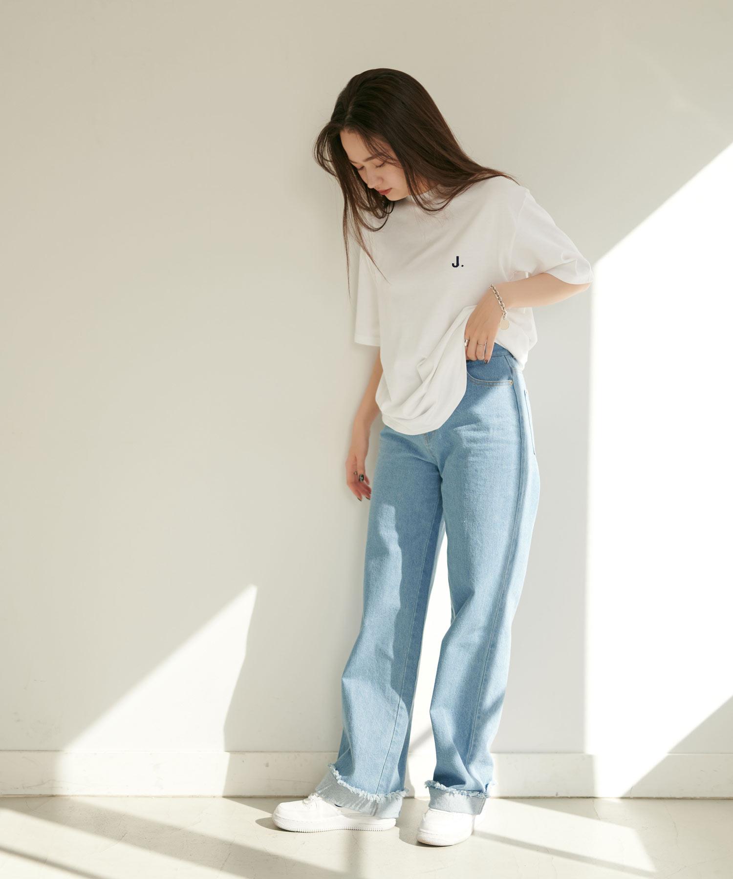 J.刺繍ユニセックスTシャツ TINA:JOJUN