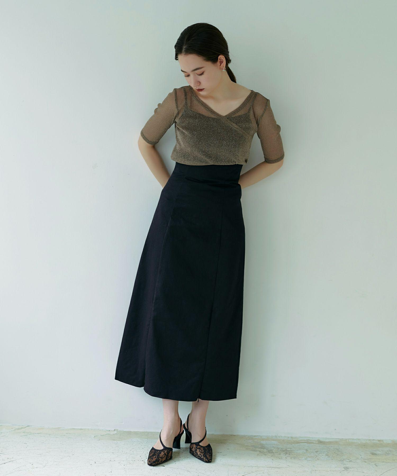 バイカラー チノスカート TINA:JOJUN
