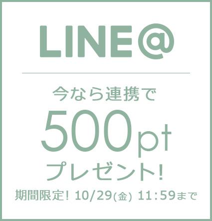 LINE@ 連携でポイントプレゼント!