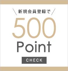 新規会員登録で500Point