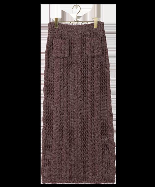 スカート ニット ケーブル omom×mimi toujours